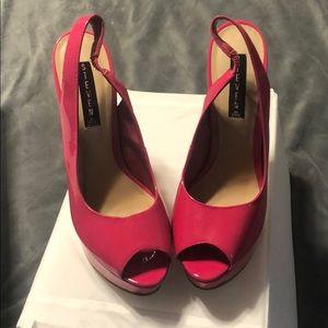 Hot Pink Steven by Steve Madden heels